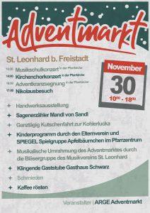 Stand am St. Leonharder Adventmarkt @ Marktplatz St. Leonhard