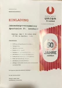 Union Jahreshauptversammlung 2019 @ Gasthaus Janko