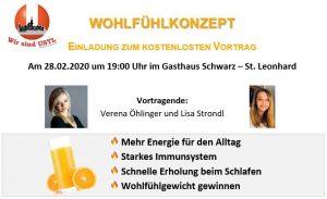 """Vortrag """"Wohlfühlkonzept"""" @ Gasthaus Schwarz"""