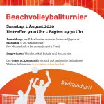 Gruppeneinteilung Beachvolleyballturnier 2020